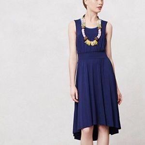 Anthro Girls From Savoy   Navy Blue Hi Low Dress